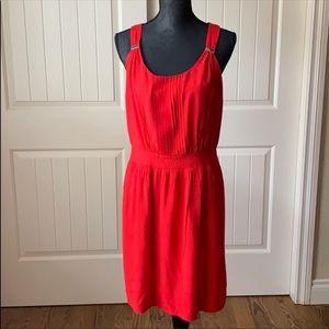 White House black market red sleeveless dress
